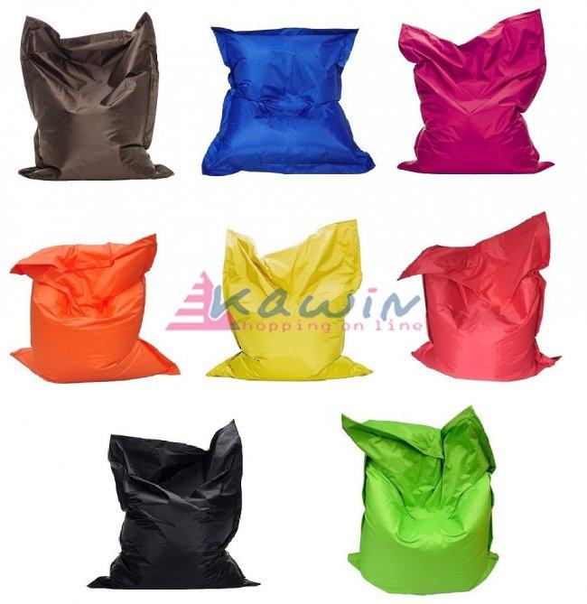 Poltrona sacco relax pouf puff materasso cuscino gigante cuscinone xxl pvc bean ebay - Pouf a sacco ikea ...