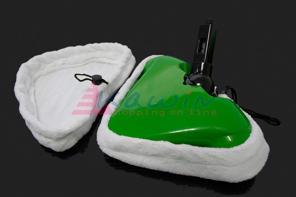 Set 6 triangoli panni bianchi microfibra scopa a vapore for Scopa a vapore hotpoint panni ricambio